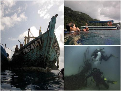 diving at pulau tenggol