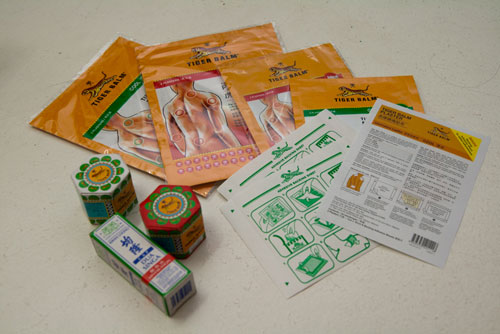 Tiger Balm warm and cold plaster, ointment