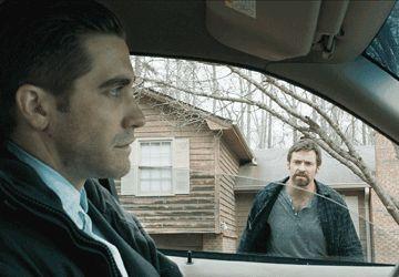 Jake Gyllenhaal et Hugh Jackman dans Prisoners.
