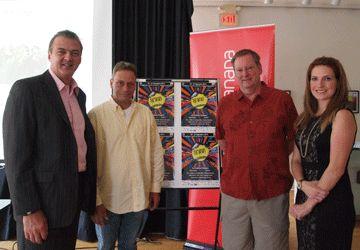 Les organisateurs René Viau, Richard Gagnon, Jacques Charette et Dominique Sedlezky de cette 9e édition de Francophonie en Fête.