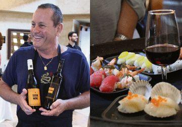 Pierre Vaillant et ses Sushi Wine rouge et blanc chez Konzelmann. (Photos: Nathalie Prézeau)