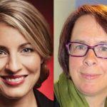 La ministre du Patrimoine canadien, Mélanie Joly, et la présidente de la FCFA, Sylviane Lanthier.