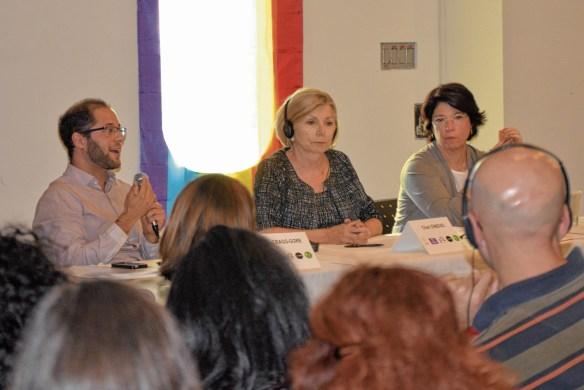 L'avocat Sasha Cragg-Gore, la députée Cheri Di Novo et la psychologue Françoise Susset.