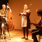 Les Petits Nouveaux, trio de jazz manouche... et torontois, qui se produira en juin à l'AFT.
