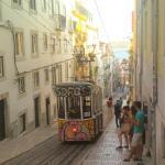 Le célèbre funiculaire de Lisbonne.