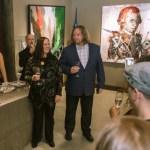 Joanne Thompson et Sylvain Landry lors du party de 10e anniversaire de leur galerie à la Distillerie.