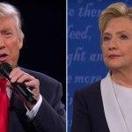 Donald Trump et Hillary Clinton dimanche soir.