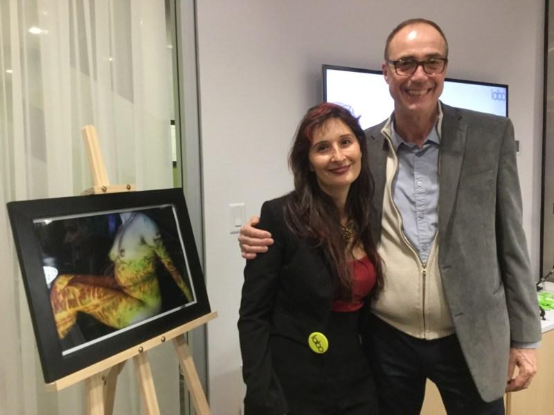 Karine Barrass, directrice du Labo, et le photographe Claude Martel.