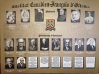 Les premiers présidents d'honneur de l'Institut canadien-français d'Ottawa.