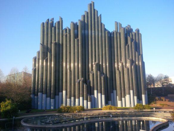 Une attraction du parc Futuroscope.