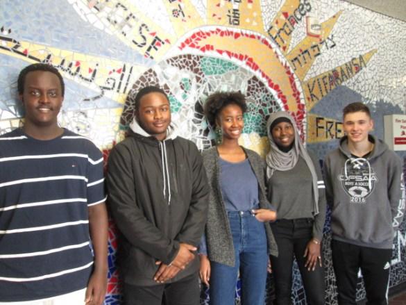 De l'école Étienne-Brûlé: Amando Muheto, Serge Kacou, Rika Mpogazi,  Yaye Fatou Diagne, Zachary Flahaut.