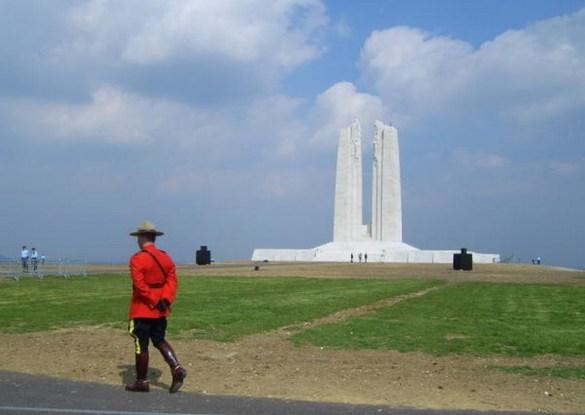 Le monument canadien à Vimy.