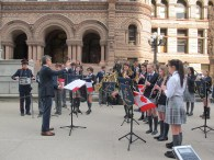 L'orchestre de la Toronto French School.