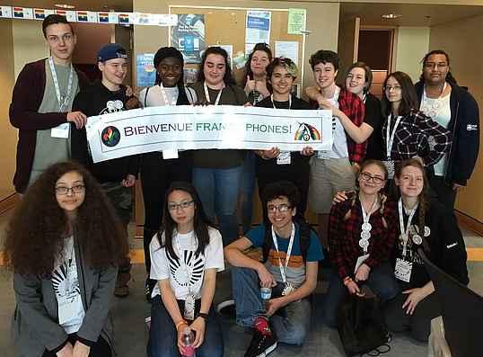 La délégation du conseil scolaire Viamonde au Forum Audace.