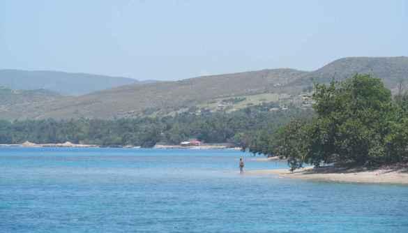 La côte haïtienne.