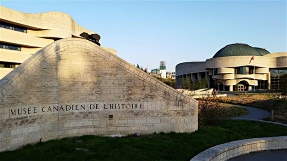 Le Musée canadien de l'histoire.