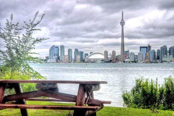 Pique-nique aux îles de Toronto... quand elles ne sont pas inondées.