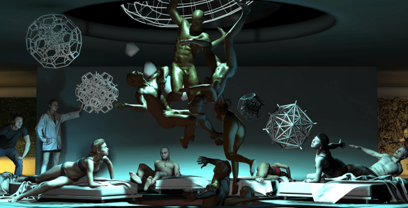 Une sculpture virtuelle, The Merging, qui a été présentée à la Nuit blanche de Toronto en 2016.