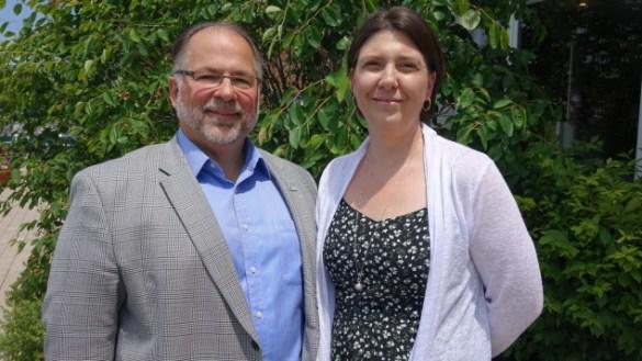 Le président Alain Beaudoin et la directrice générale Nadia Martins de l'AFRY. (Photo: Radio-Canada/Marie-Hélène Ratel)