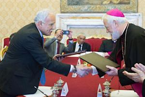 Vatican State Relations secretary Paul Richard Gallagher …