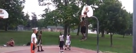 Perry Maberry can dunk more impressively than some guys who are a foot taller. (YouTube)