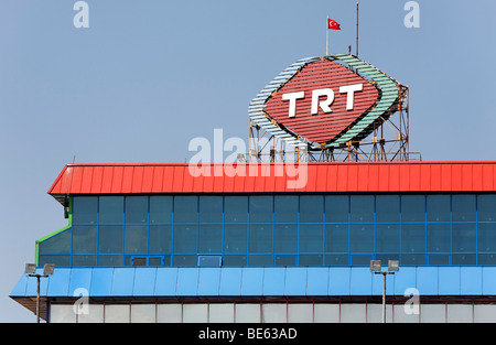 ISTANBUL  TURKEY  The TRT building  TV and radio station  in Beyoglu     Building of the Turkish radio and television TRT  Pera  Beyoglu  Istanbul   Turkey