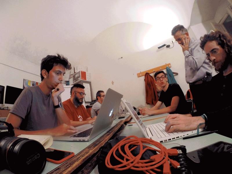 Conservatorio E. Duni, ultimi giorni... Da sinistra a destra: Tommaso Cappelletti, Salvatore Iaconesi, Marcello Laquale, Antonio COlangelo, Fabrizio Festa, Guglielmo Torelli