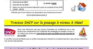 thumbnail of FLASH N° 34 Trvx SNCF Nézel Inscription Ecole Colonies VolArbres RecensementCitoyen PLUi3 Déjections canines