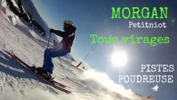 Ski Carving - Presentation Morgan Petitniot skieur tous virages - pistes poudreuse1