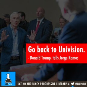 TRUMP: Go back to Univision
