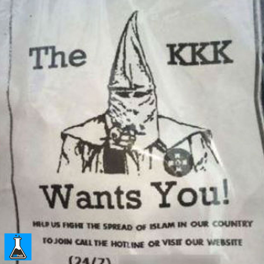 """KKK fliers were sent out to people in Alabama this month to stop """"The Spread Of Islam."""""""