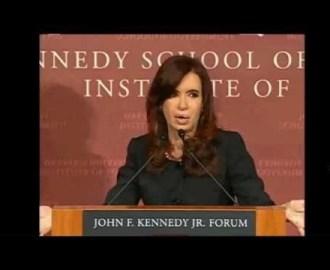CFK sobre La Matanza y Harvard