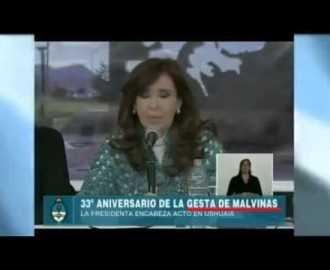 """CFK sobre la """"gesta"""" de Malvinas"""