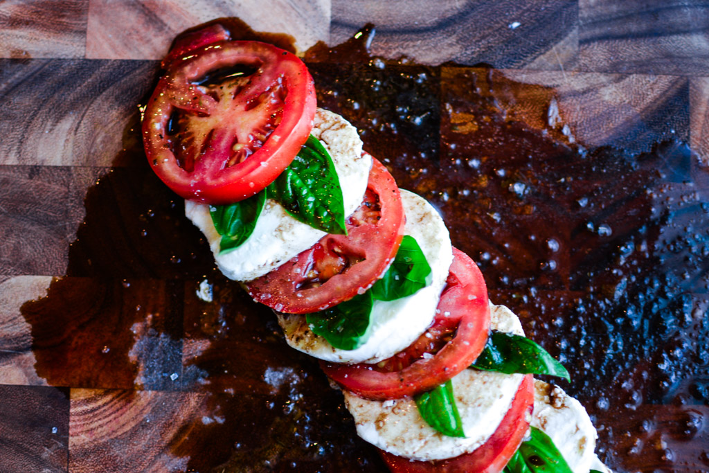 Easy Caprese salad with tomatoes and mozzarella inspired by Capri