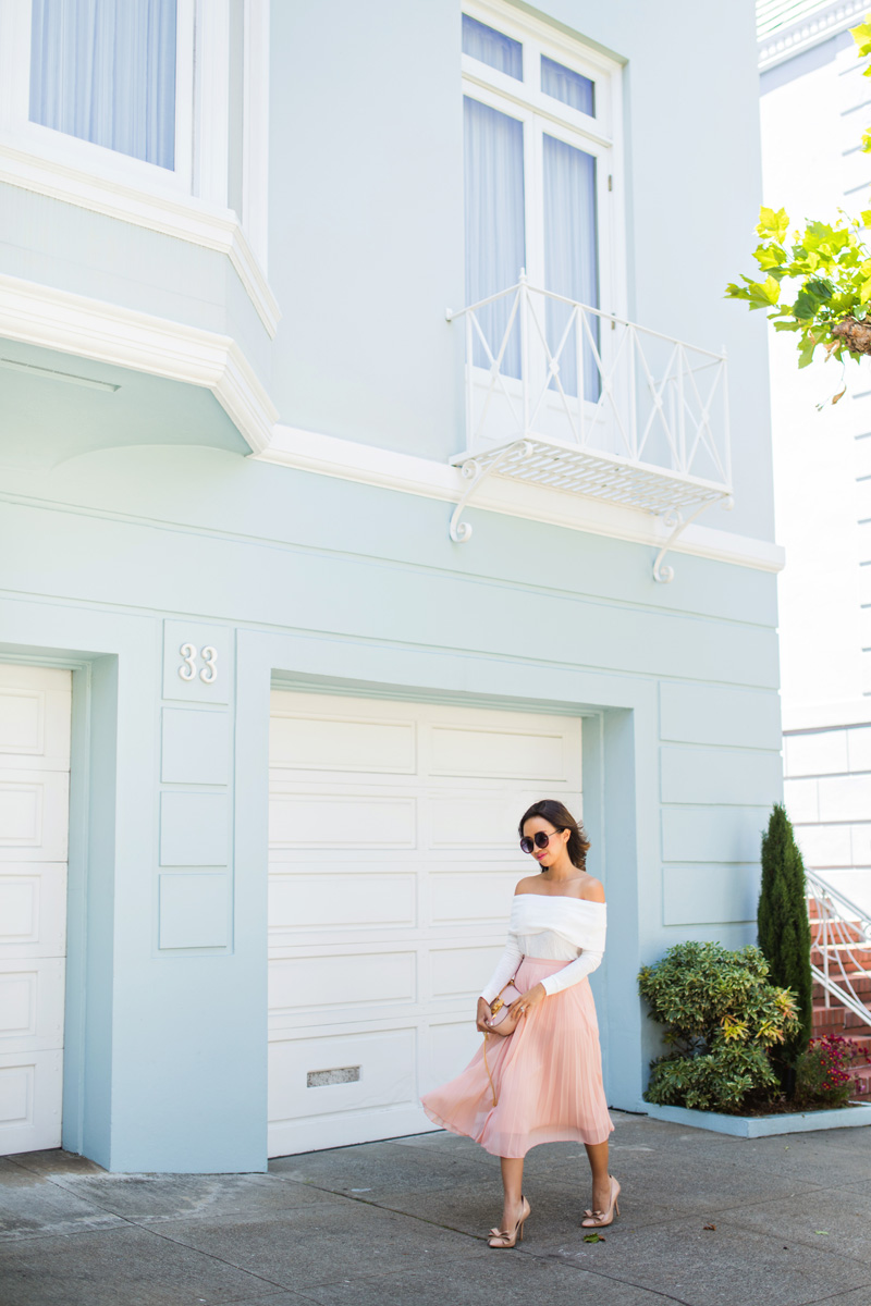 petite fashion blog, lace and locks, los angeles fashion blogger, san francisco travel diary, traveling fashion blogger, san francisco fashion blogger, pink maxi skirt, cute streetstyle