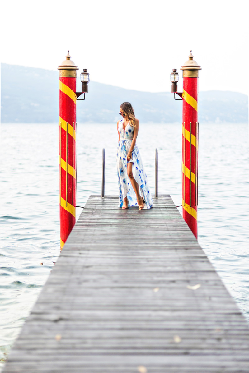 petite fashion blog, lace and locks, maxi shorts jumpsuit, morning lavender dress, cute maxi dresses, travel blogger, lake garda