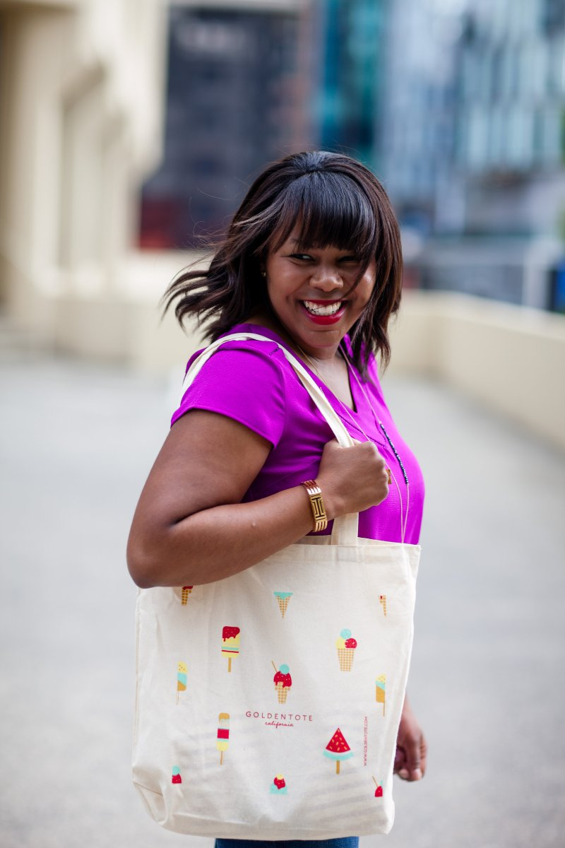 Golden Tote is a flash sale site that launches a new collection the first Monday of every month. Depending on your order, both you and your stylist will choose a few items. For example, I chose two items and my stylist chose three.
