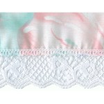 Fabric with Lace Trim 2  3/4