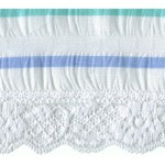Fabric with Lace Trim 2 1/2