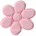 1 1/4'' - 3.2 cm -  Satin Flower Applique - Pink, Coral1 1/4'' - 3.2 cm -  Satin Flower Applique - Pink, Coral