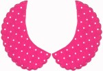 Fuchsia Knit with White Dots Collar Set (L/R) - 2 SizesFuchsia Knit with White Dots Collar Set (L/R) - 2 Sizes