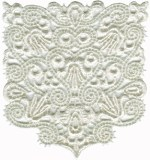 4'' by 4 1/4'' Ivory Venice Lace Pocket Applique4'' by 4 1/4'' Ivory Venice Lace Pocket Applique