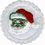 3'' - 7.6 cm - Netting Santa Applique3'' - 7.6 cm - Netting Santa Applique