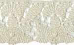 2 1/4'' Ivory Cotton Lace Trim2 1/4'' Ivory Cotton Lace Trim