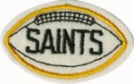 2 3/4'' by 1 3/4'' SAINTS Football Patch - Gold, Black2 3/4'' by 1 3/4'' SAINTS Football Patch - Gold, Black