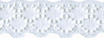 3/4'' White Lace Trim3/4'' White Lace Trim