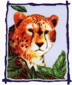 2 1/2'' by 3'' Iron On Cheetah Applique2 1/2'' by 3'' Iron On Cheetah Applique