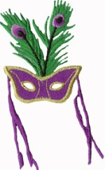 2 3/8'' by 4 1/8'' Mardi Gras Mask Iron On Applique2 3/8'' by 4 1/8'' Mardi Gras Mask Iron On Applique