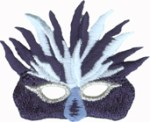 2 3/8'' by 2'' Iron On Mardi Gras Mask Applique2 3/8'' by 2'' Iron On Mardi Gras Mask Applique
