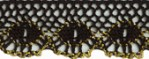 15/16'' Black Cluny with Gold Lace15/16'' Black Cluny with Gold Lace